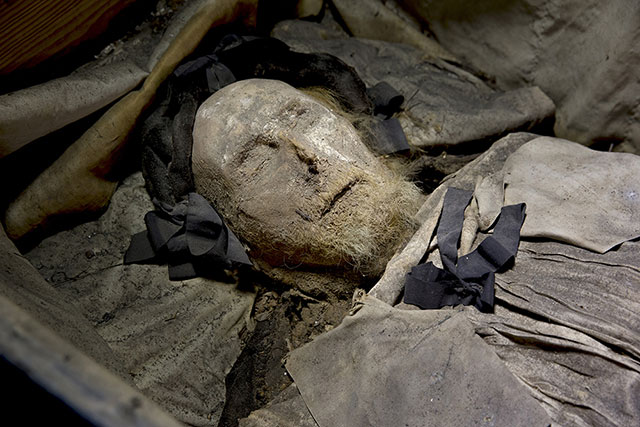 The mummified remains of 17th century bishop Peder Winstrup