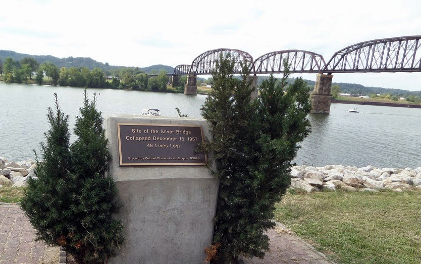 Memorial for the Silver Bridge collapse in Point Pleasant