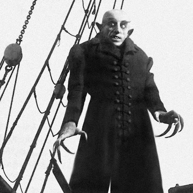 Max Schreck as the vampire in the classic 1922 silent film Nosferatu
