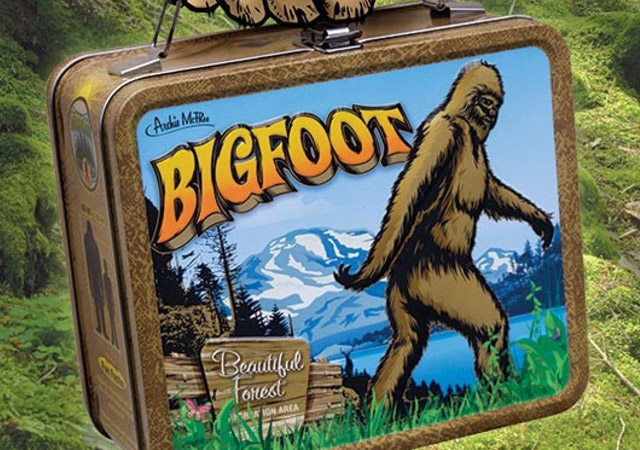 Retro metal Bigfoot lunchbox by Archie McFee