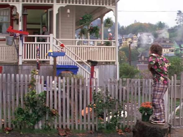 Chunk does the truffle shuffle at the Goonies house in Astoria