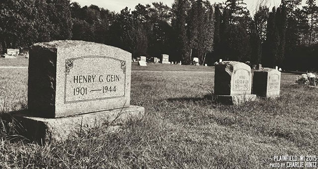 The grave of Ed Gein in Plainfield Cemetery
