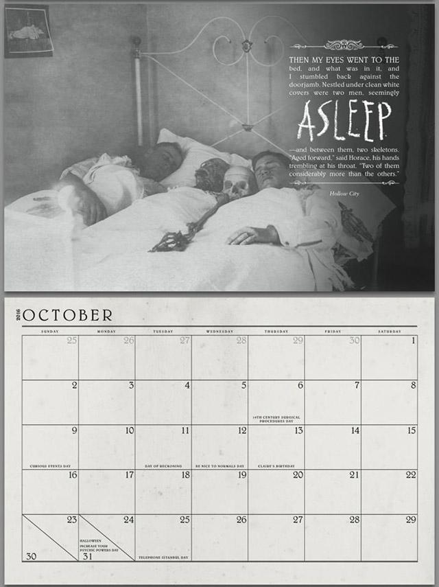 Miss Peregrine's Home for Peculiar Children calendar