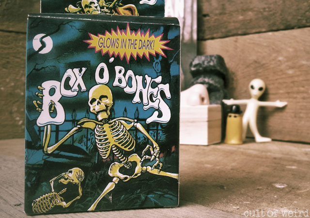 Box O' Bones glow in the dark skeleton