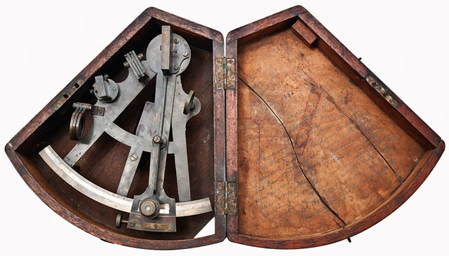 Captain Dudley's sextant from the Mignonette shipwreck