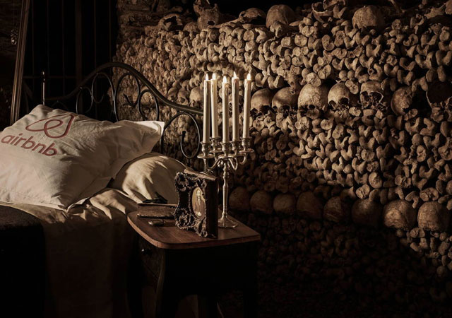 AirBNB is giving away a one night stay in the Paris catacombs for Halloween