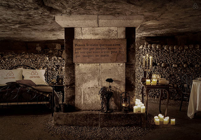 Bed and breakfast in the catacombs