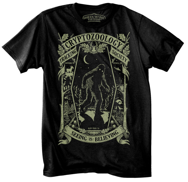 Cryptozoological Tracking Society t-shirt from Maiden Voyage