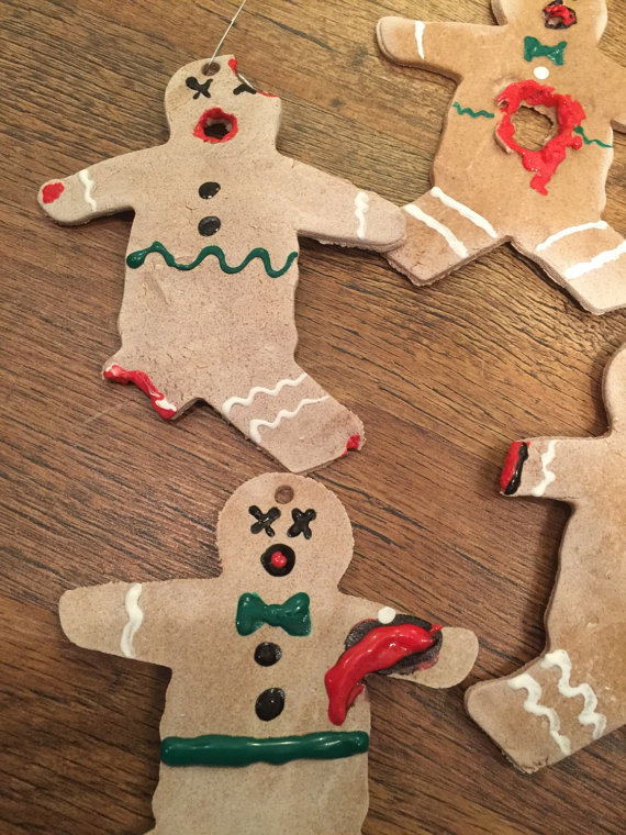 Gingerdead men Christmas ornaments