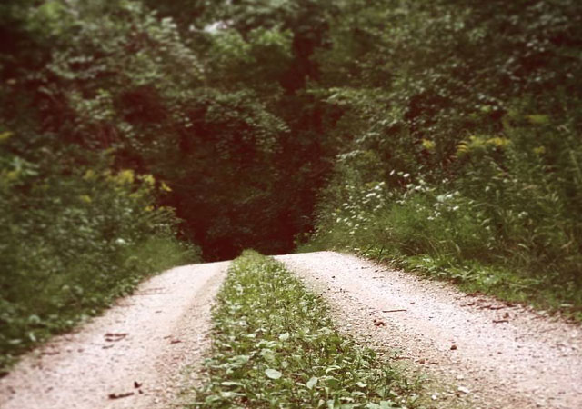 Goatman road in Kewaskum, Wisconsin