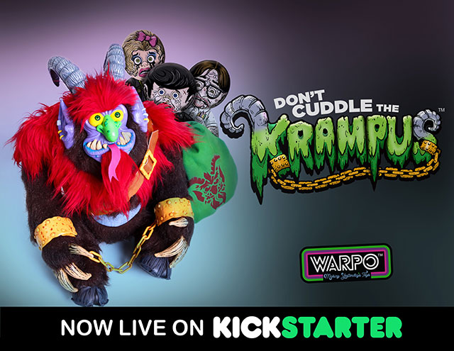 Krampus plush toy from Warpo
