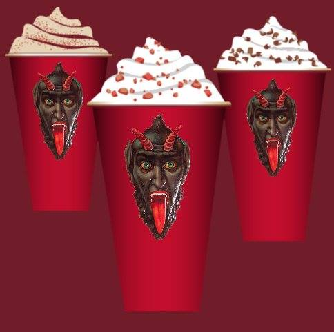 Krampus holiday cups at Starbucks