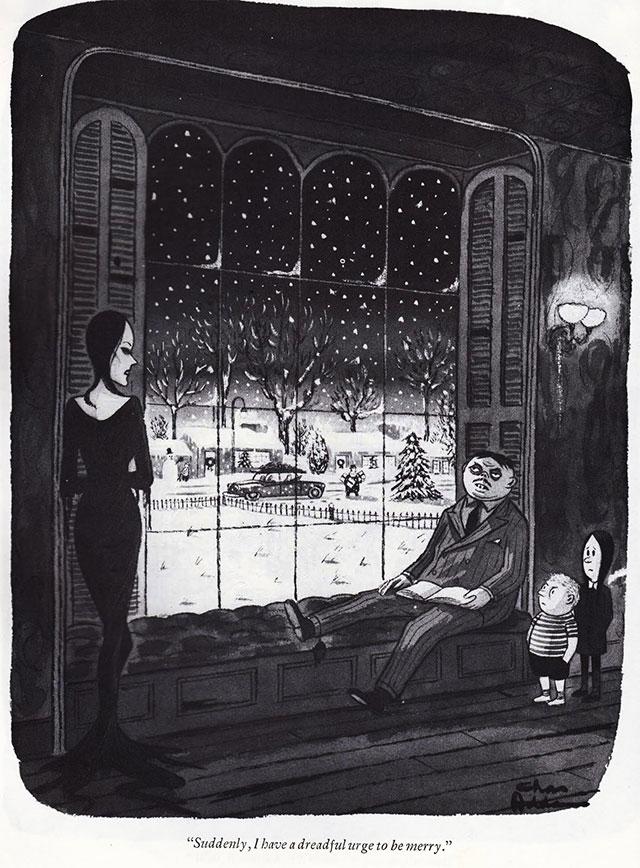 Addams Family Christmas comic