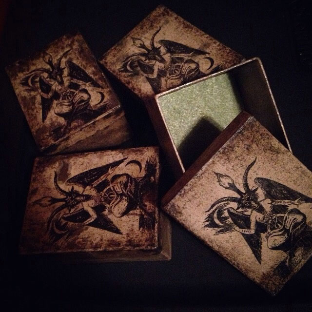Baphomet ring boxes