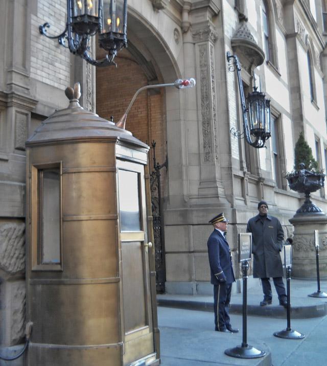 The entrance to the Dakota in New York where John Lennon was shot