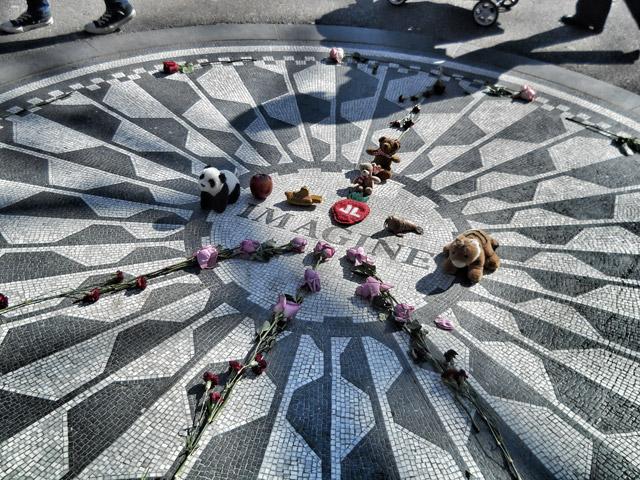 Strawberry Fields Imagine memorial for John Lennon in Central Park