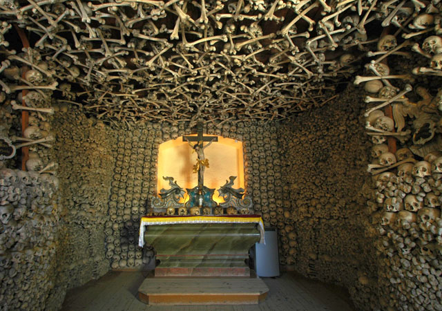 The Chapel of Skulls in Czermna, Poland