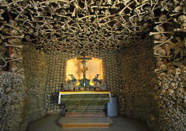 The Chapel of Skulls in Czermna, Poland