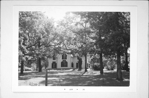 Historical photo of the abandoned Witherell house on Hwy K in Fond du Lac