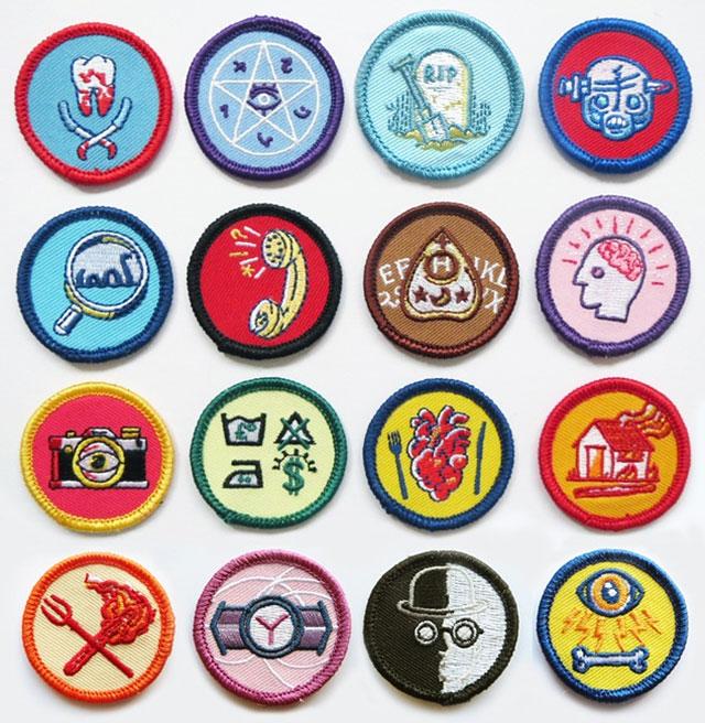 Alternative Scouting merit badges by Luke Drozd
