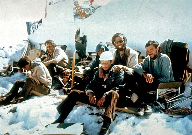Survivors of the Uruguayan rugby team that crashed in the Andes in 1972.
