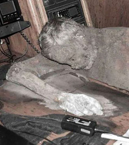 Mummified captain found drifting at sea