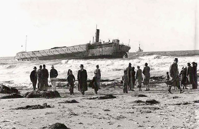 Wreckage of the SS Monte Carlo