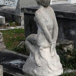 Bound woman statue in Key West Cemetery