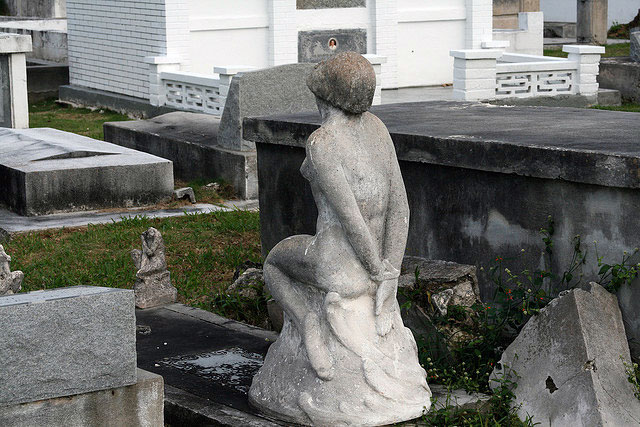 The Bound Woman statue in Key West Cemetery