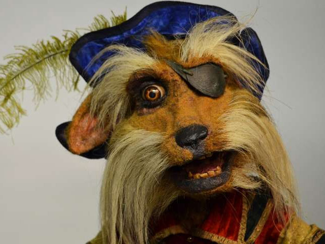 Sir Didymous on display at the Center for Puppetry Arts