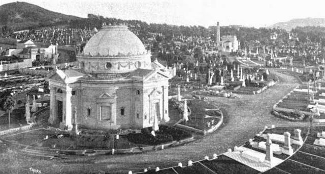 Historical photo of the Odd Fellows Cemetery in San Francisco