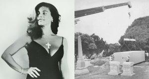Sandra West was buried inside her Ferrari wearing lingerie
