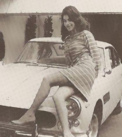 Sandra West was buried in lingerie in her favorite Ferrari