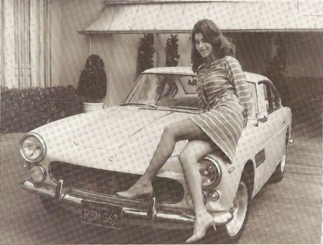 Sandra West with one of her Ferraris
