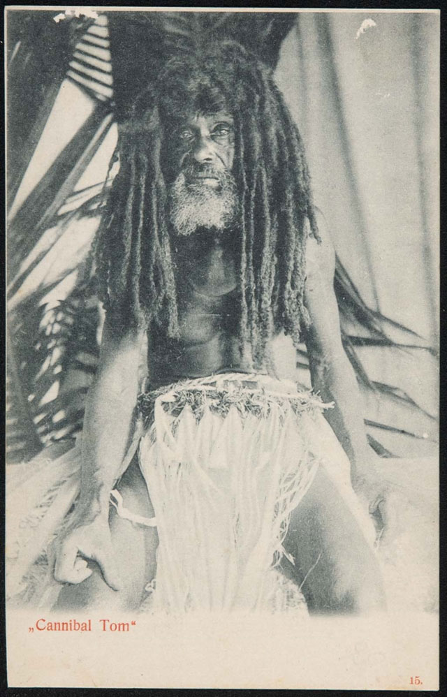 Vintage postcard of Cannibal Tom
