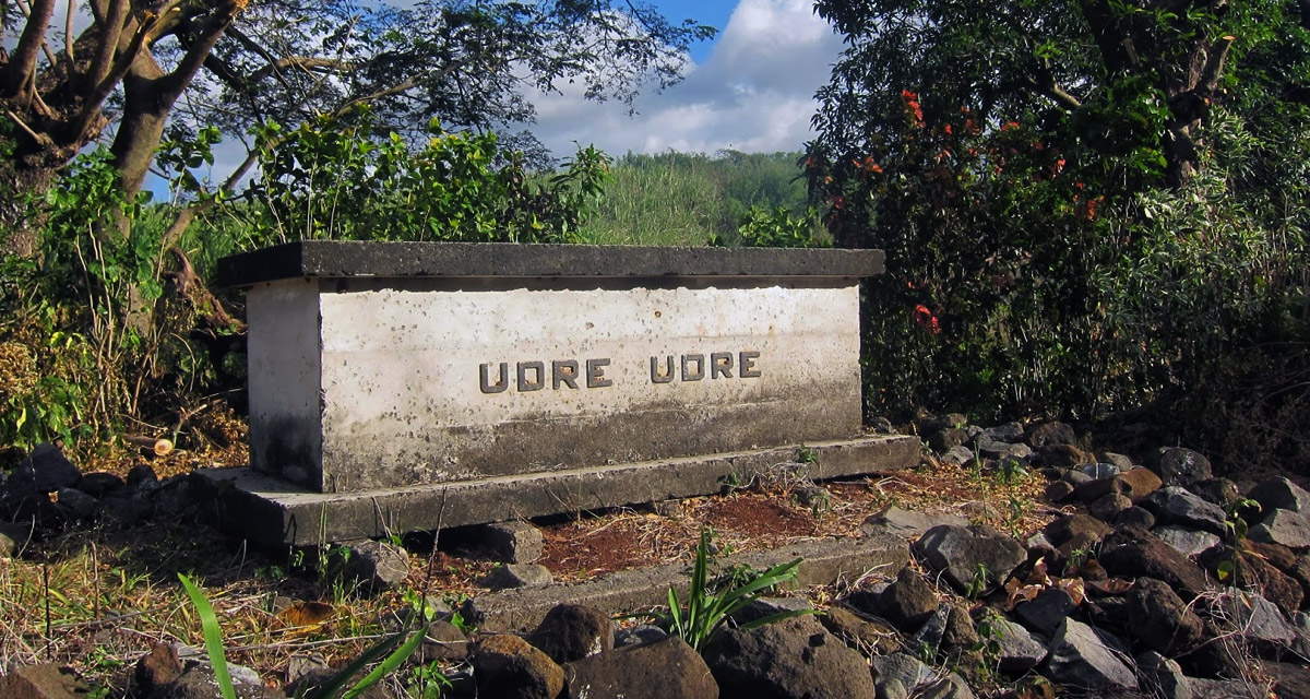 The tomb of Fiji chief Udre Udre, the most prolific cannibal