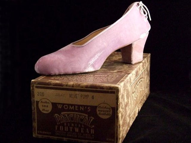 Vintage women's burial shoes