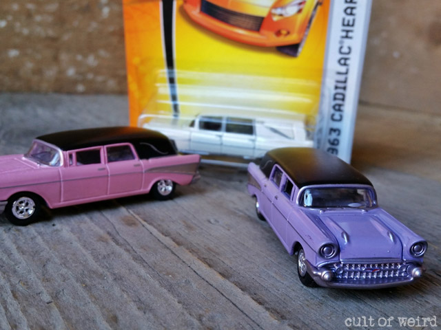 Diecast Johnny Lightning and Matchbox hearses