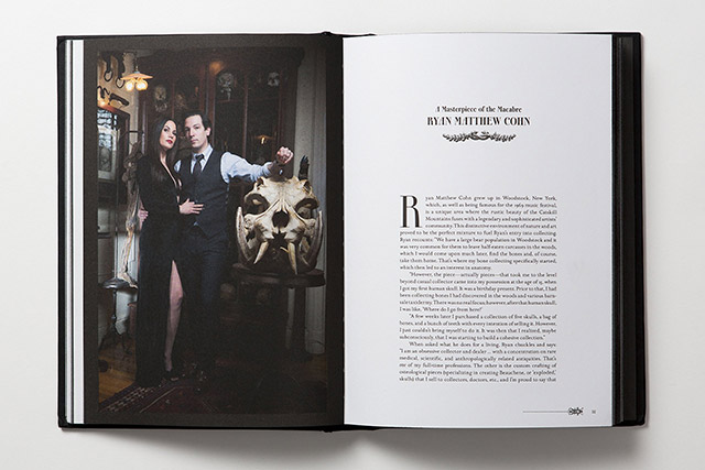 Morbid Curiosities by Paul Gambino featuring the oddities collection of Ryan Matthew Cohn