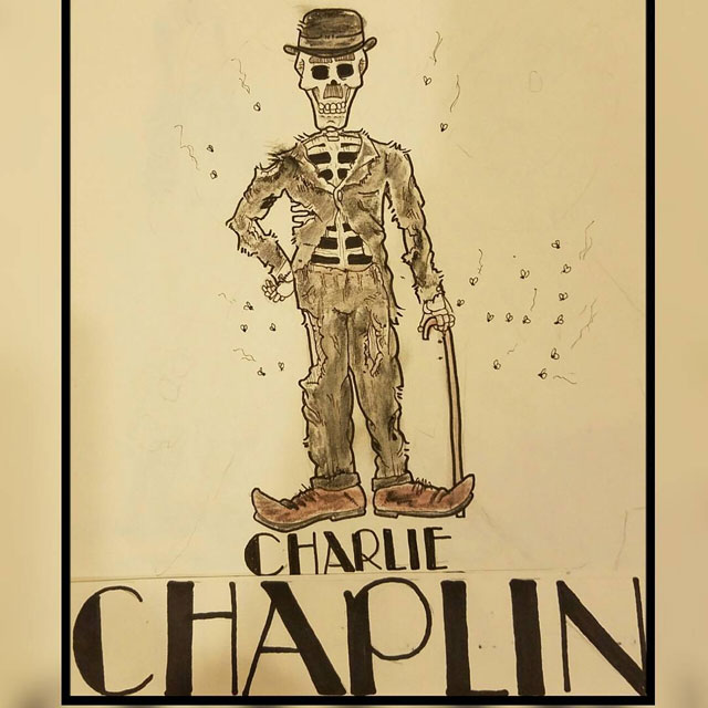 The corpse of Charlie Chaplin