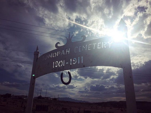 Tonopah Cemetery next to the Clown Motel in Nevada