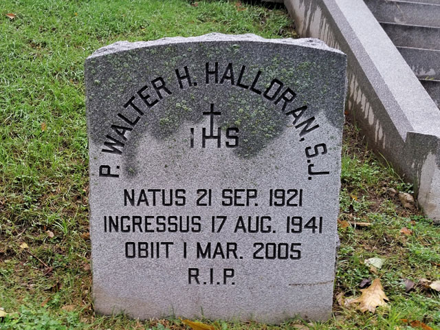 The grave of Father Walter Halloran in Milwaukee's historic Calvary Cemetery