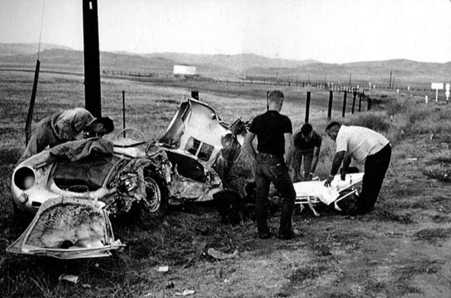 The crash scene where James Dean died