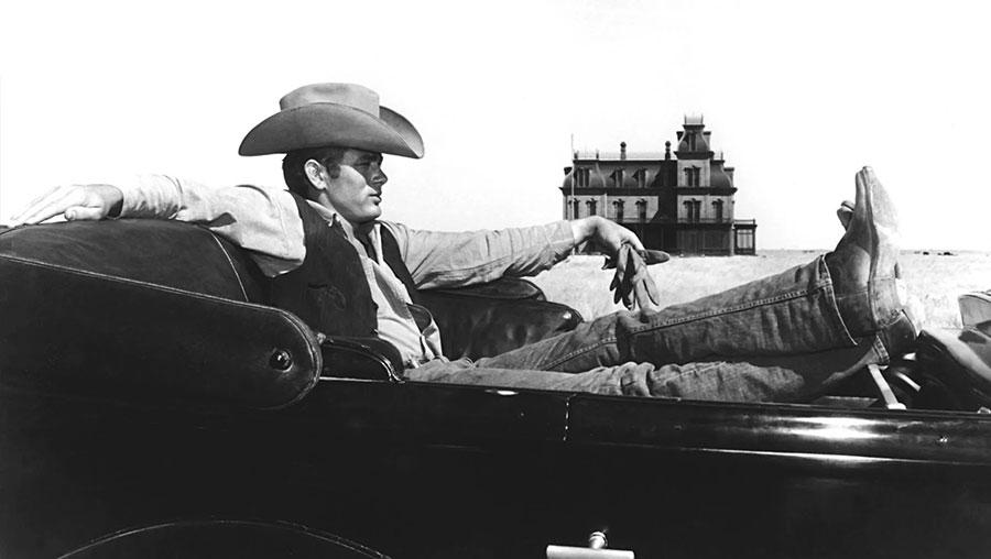 James Dean in his last film Giant, 1955