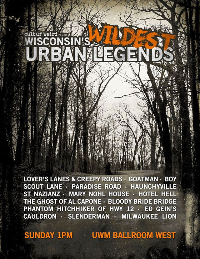 Wisconsin's Wildest Urban Legends panel at Milwaukee Paranormal Conference