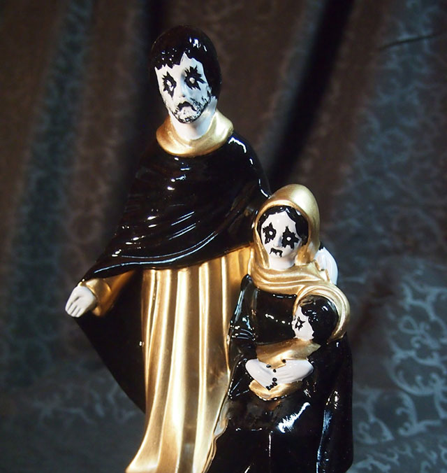 Corpse paint nativity figures