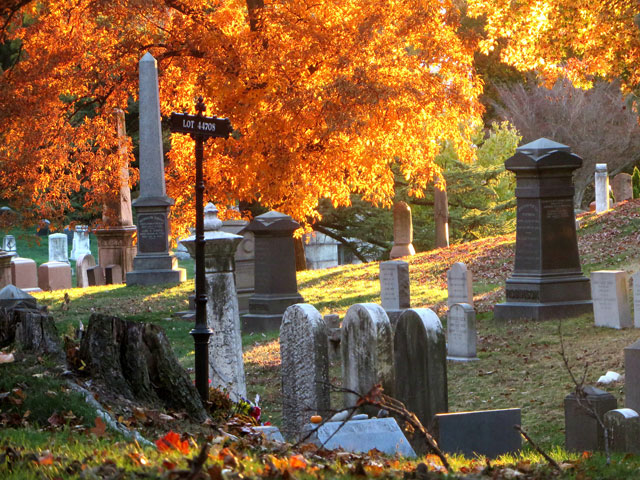 Green-Wood Cemetery in fall