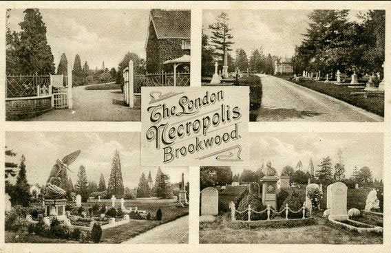 London Necropolis Brookwood Cemetery vintage postcard