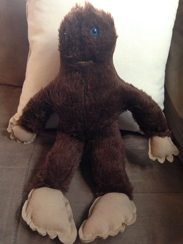 Plush Bigfoot buddy