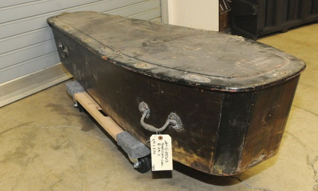 Odd Fellows coffin with bones inside found in Oregon